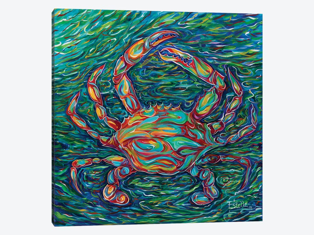 Crab by Estelle Grengs 1-piece Canvas Art Print