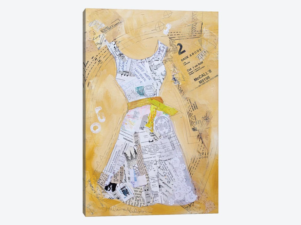 Dress Whimsy III by Elizabeth St. Hilaire 1-piece Canvas Art Print