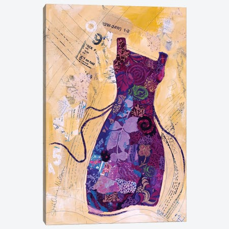 Dress Whimsy IV Canvas Print #ESH14} by Elizabeth St. Hilaire Canvas Wall Art