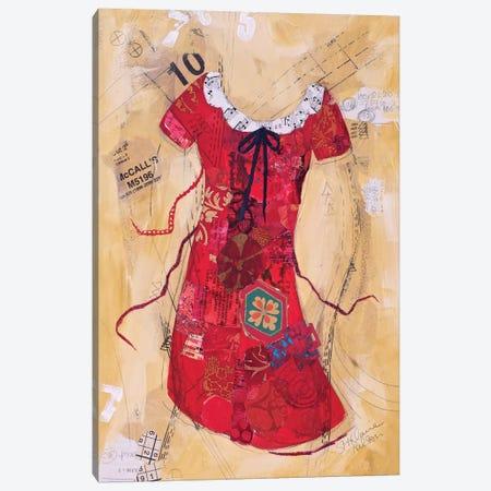 Dress Whimsy V Canvas Print #ESH15} by Elizabeth St. Hilaire Canvas Art