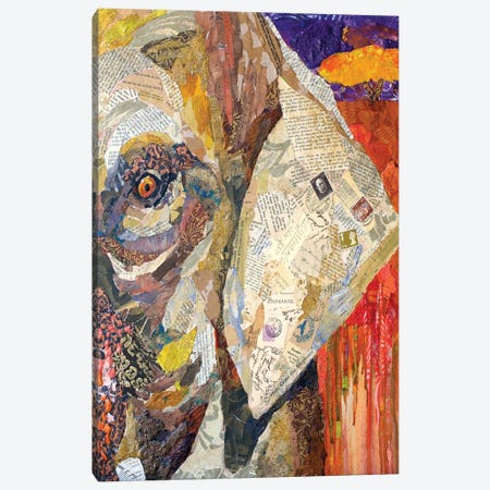 Africa on Collage I Canvas Print #ESH1} by Elizabeth St. Hilaire Canvas Wall Art