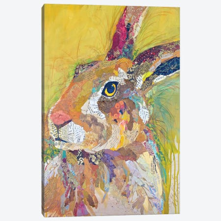 Harvey The Hare Canvas Print #ESH22} by Elizabeth St. Hilaire Canvas Wall Art