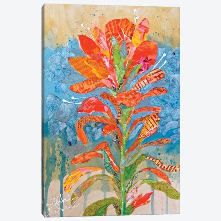 Indian Paintbrush Collage I Canvas Print #ESH26} by Elizabeth St. Hilaire Canvas Art Print