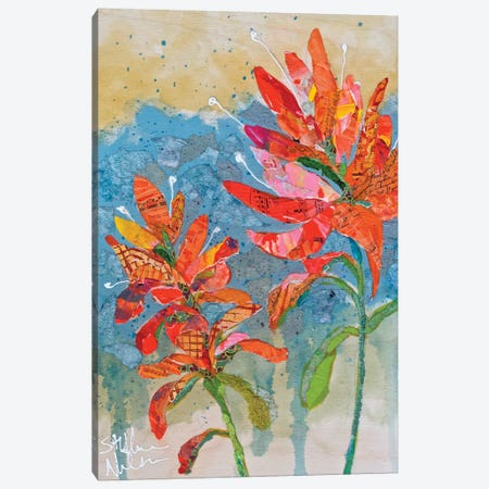 Indian Paintbrush Collage II Canvas Print #ESH27} by Elizabeth St. Hilaire Art Print