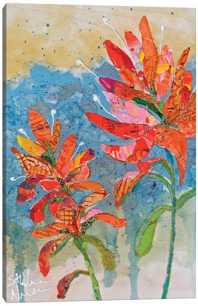 Indian Paintbrush Collage II Canvas Art Print