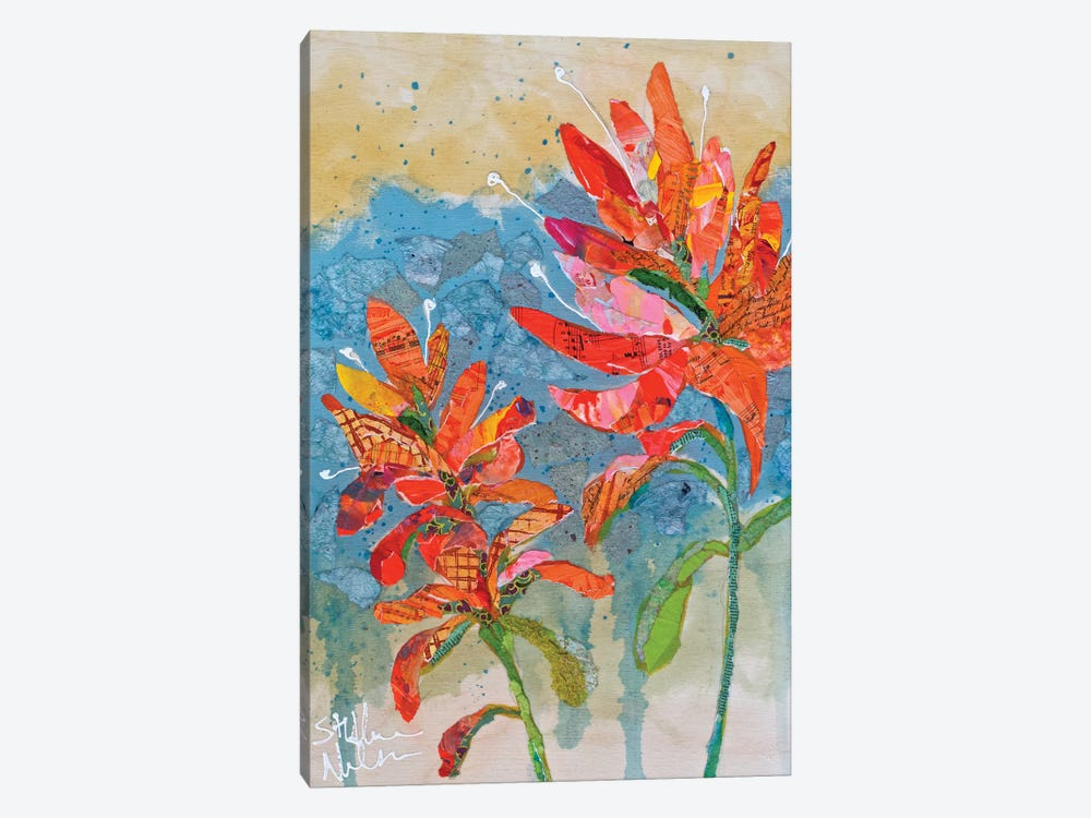 Indian Paintbrush Collage II by Elizabeth St. Hilaire 1-piece Canvas Artwork