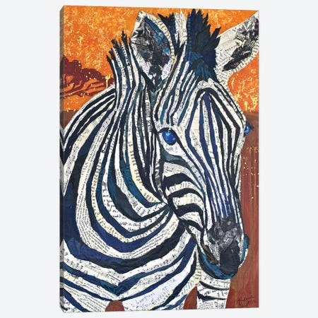 Africa on Collage II Canvas Print #ESH2} by Elizabeth St. Hilaire Canvas Artwork