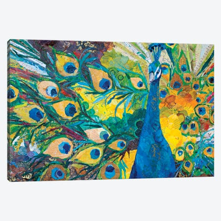 Percy Peacock I 3-Piece Canvas #ESH31} by Elizabeth St. Hilaire Canvas Print