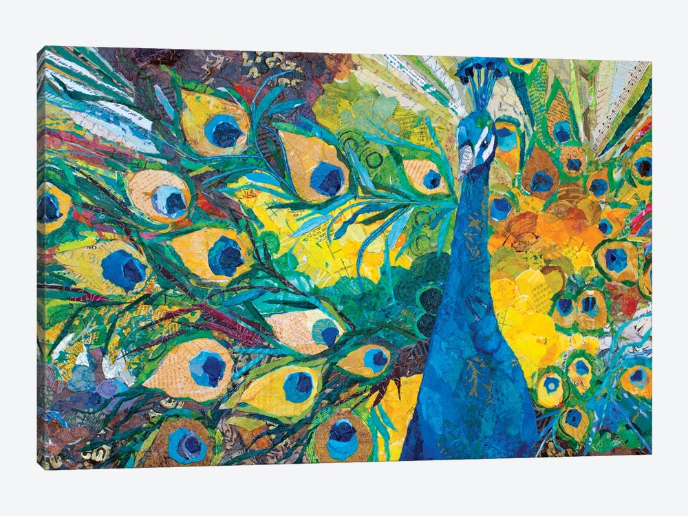 Percy Peacock I by Elizabeth St. Hilaire 1-piece Canvas Art Print