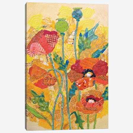 Poppy Collage I Canvas Print #ESH34} by Elizabeth St. Hilaire Canvas Artwork