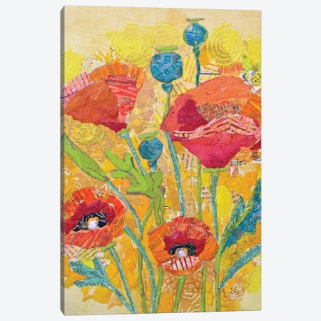 Poppy Collage II Canvas Print #ESH35} by Elizabeth St. Hilaire Canvas Wall Art