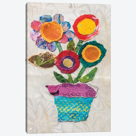 Flower Pot I 3-Piece Canvas #ESH43} by Elizabeth St. Hilaire Canvas Wall Art