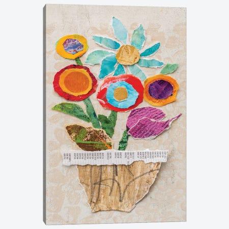 Flower Pot II 3-Piece Canvas #ESH44} by Elizabeth St. Hilaire Canvas Print