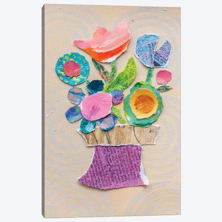 Flower Pot III 3-Piece Canvas #ESH45} by Elizabeth St. Hilaire Art Print
