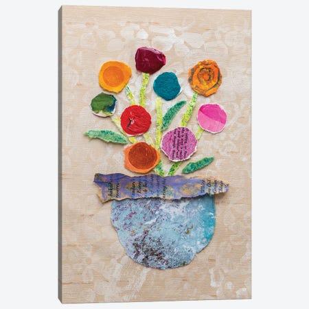 Flower Pot IV 3-Piece Canvas #ESH46} by Elizabeth St. Hilaire Canvas Art Print