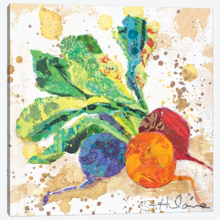 Veggie Splash I Canvas Print #ESH55} by Elizabeth St. Hilaire Canvas Artwork