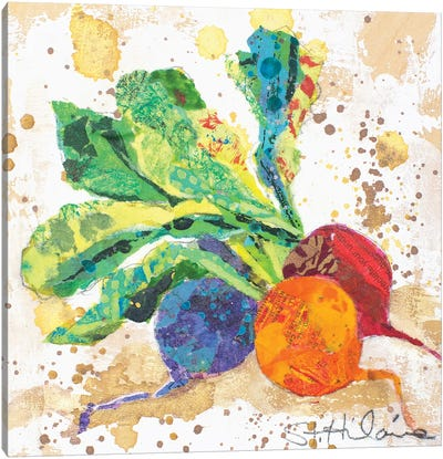 Veggie Splash I Canvas Art Print