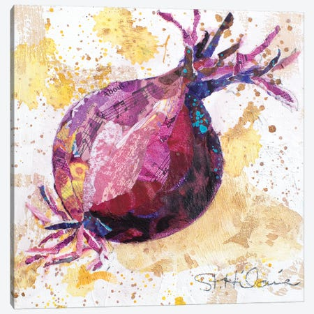 Veggie Splash II Canvas Print #ESH56} by Elizabeth St. Hilaire Canvas Wall Art