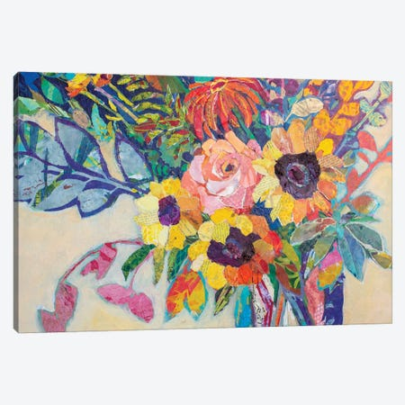 Fabulous Florals 3-Piece Canvas #ESH65} by Elizabeth St. Hilaire Canvas Print
