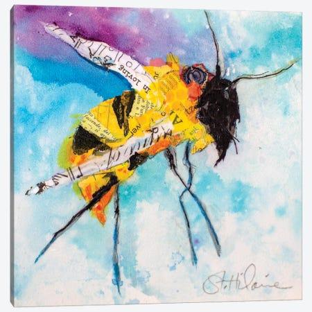 Happy Bee I Canvas Print #ESH66} by Elizabeth St. Hilaire Canvas Art Print