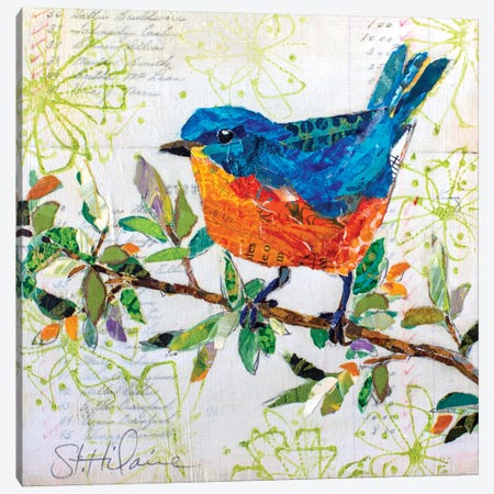 Happy Bird I Canvas Print #ESH69} by Elizabeth St. Hilaire Canvas Art