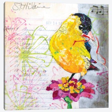 Happy Bird IV Canvas Print #ESH72} by Elizabeth St. Hilaire Canvas Print