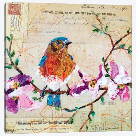Happy Bird V Canvas Print #ESH73} by Elizabeth St. Hilaire Canvas Art Print