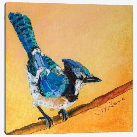 Blue Jay Blessing Canvas Print #ESH76} by Elizabeth St. Hilaire Canvas Wall Art