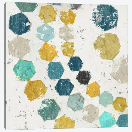 Hexagon I Canvas Print #ESK108} by Edward Selkirk Canvas Art