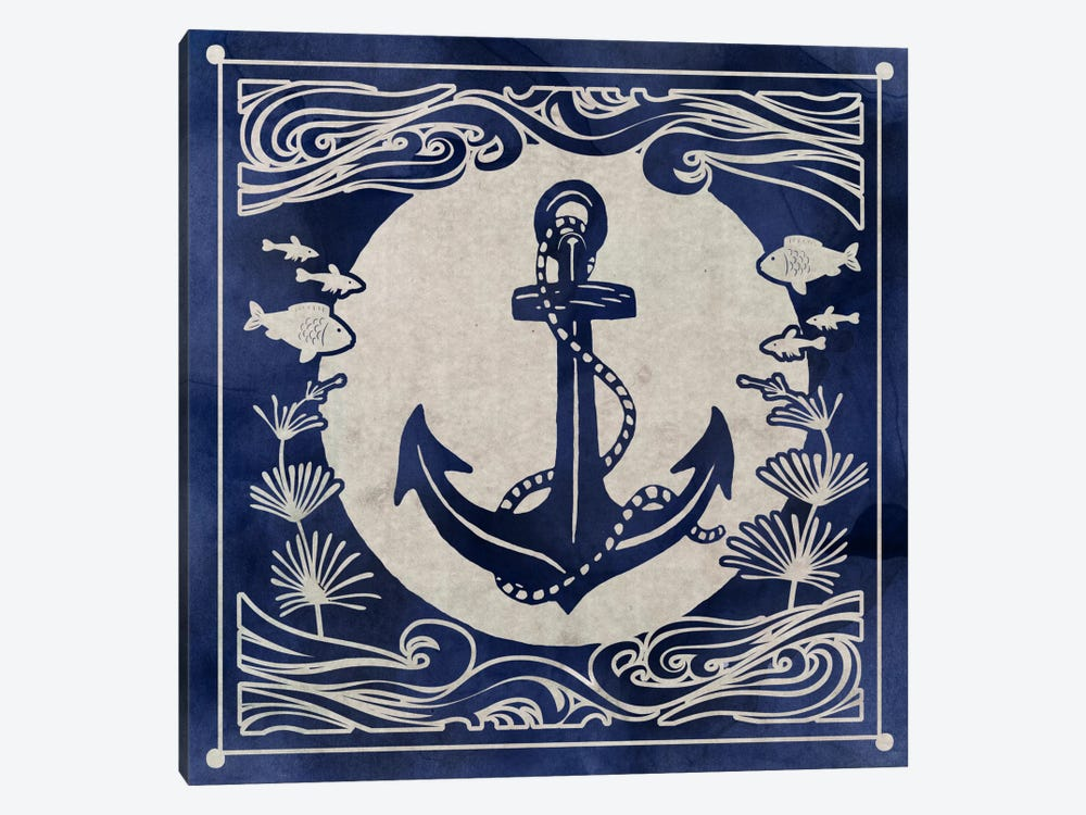 Ink Anchor by Edward Selkirk 1-piece Canvas Wall Art