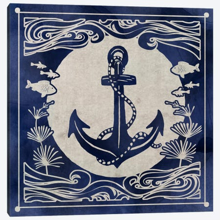Ink Anchor 3-Piece Canvas #ESK121} by Edward Selkirk Canvas Wall Art
