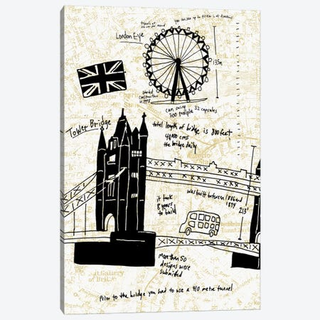 London Gold I Canvas Print #ESK144} by Edward Selkirk Canvas Print