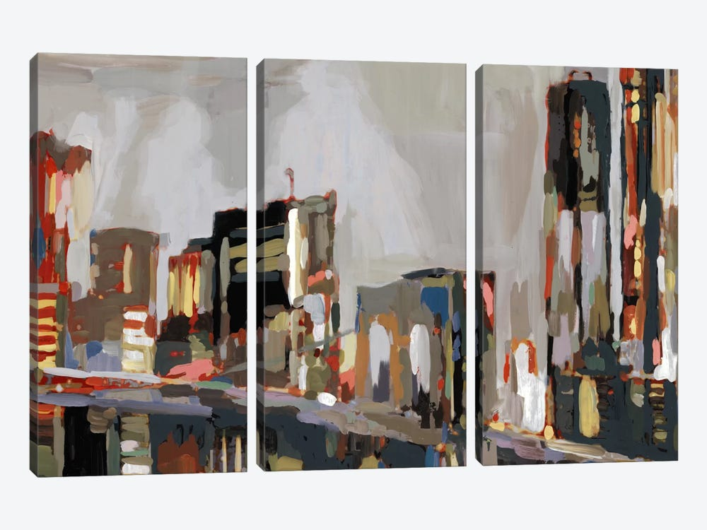 Manhattan Nights by Edward Selkirk 3-piece Canvas Artwork