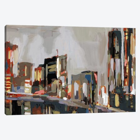 Manhattan Nights Canvas Print #ESK150} by Edward Selkirk Canvas Art Print