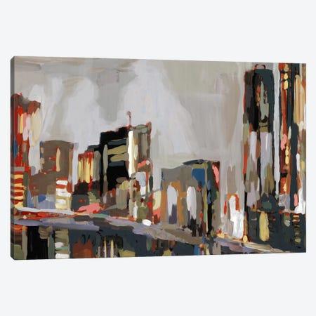 Manhattan Nights Canvas Print #ESK150} by Edward Selkirk Canvas Art Print