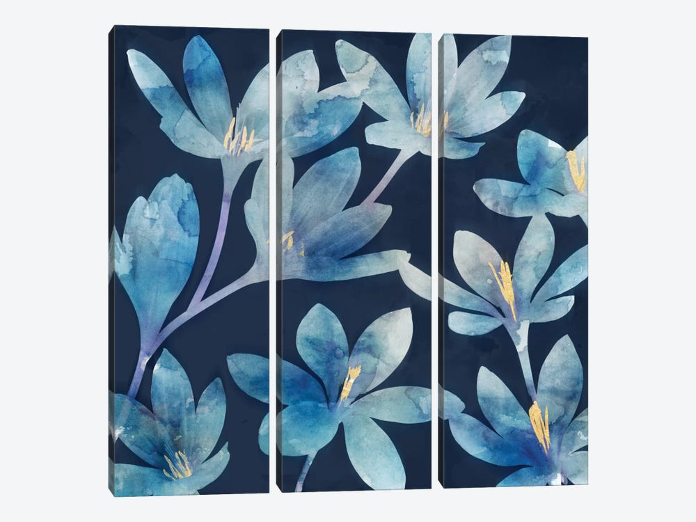 Mystique Blue I by Edward Selkirk 3-piece Canvas Print