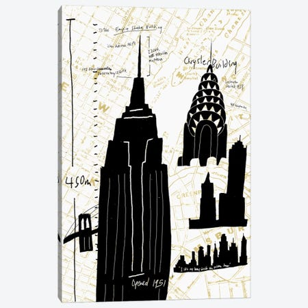 NY Deco I Canvas Print #ESK189} by Edward Selkirk Canvas Art
