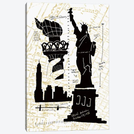 NY Deco II Canvas Print #ESK190} by Edward Selkirk Canvas Art Print