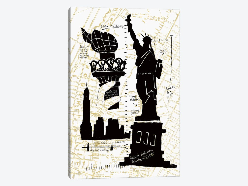 NY Deco II by Edward Selkirk 1-piece Canvas Wall Art