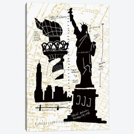 NY Deco II Canvas Print #ESK190} by Edward Selkirk Canvas Art Print