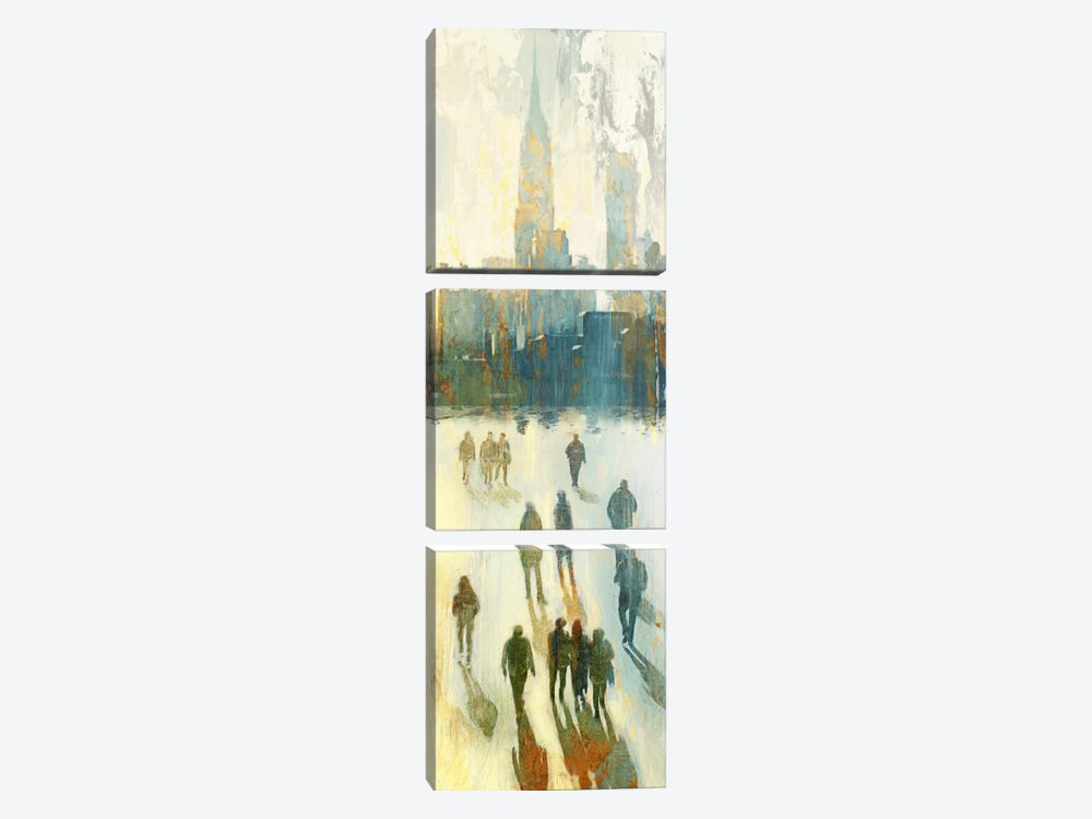NY Shadows III by Edward Selkirk 3-piece Canvas Print