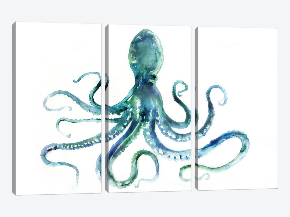 Octopus by Edward Selkirk 3-piece Canvas Artwork