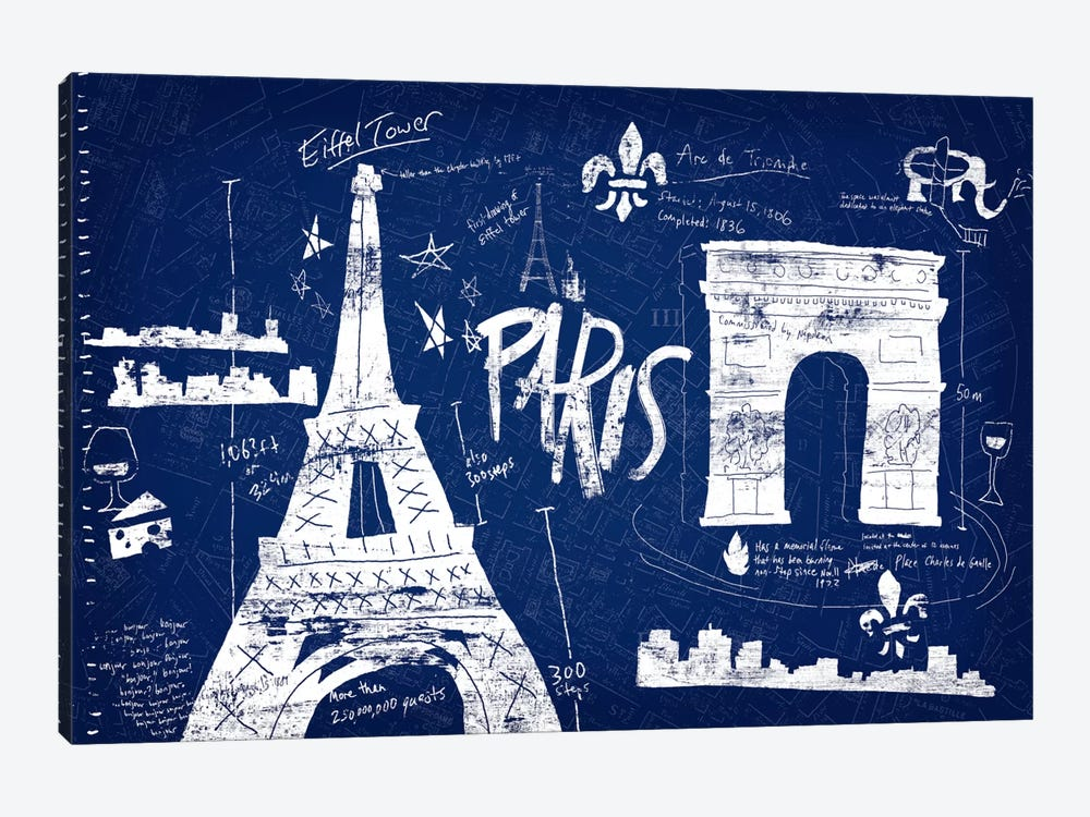 Paris Blue by Edward Selkirk 1-piece Canvas Print