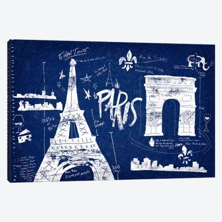 Paris Blue Canvas Print #ESK199} by Edward Selkirk Art Print