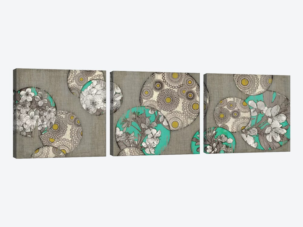 Blossom Bubbles I by Edward Selkirk 3-piece Canvas Print
