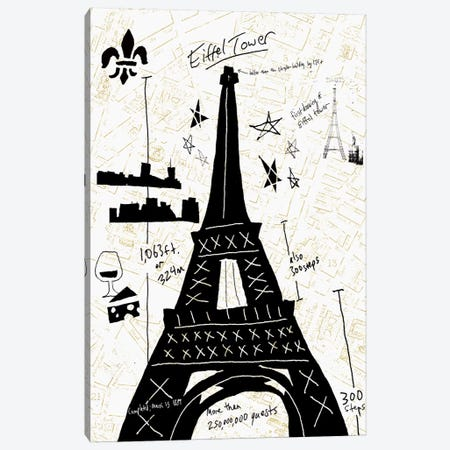 Paris Gold I Canvas Print #ESK200} by Edward Selkirk Canvas Art Print