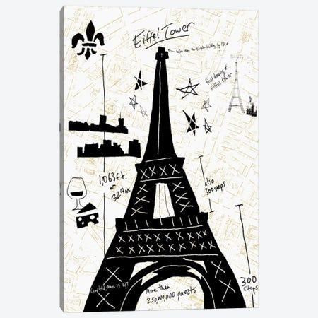 Paris Gold I Canvas Print #ESK200} by Edward Selkirk Canvas Art Print