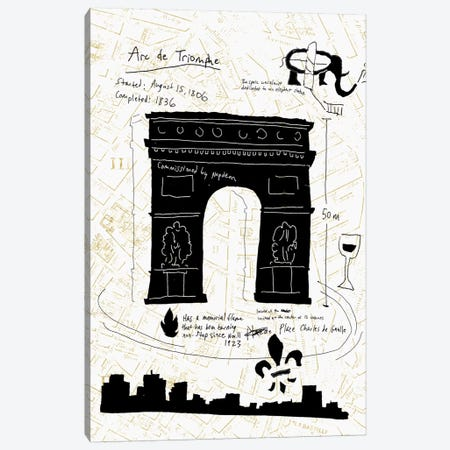 Paris Gold II Canvas Print #ESK201} by Edward Selkirk Art Print