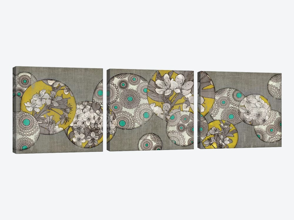 Blossom Bubbles II by Edward Selkirk 3-piece Canvas Print