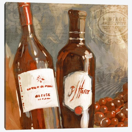 Red Wine I Canvas Print #ESK215} by Edward Selkirk Canvas Art Print